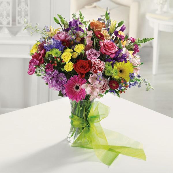 """Simply Sensational Rainbow of Flowers"""
