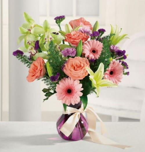"""""""Over the Rainbow Bouquet of Spring Flowers"""""""
