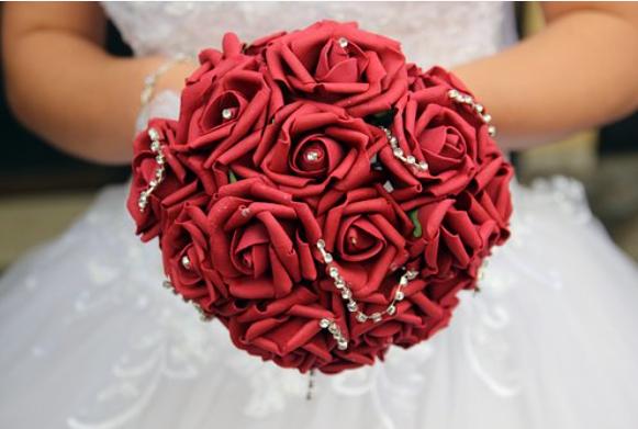 """Red Passion Bridal Bouquet"""