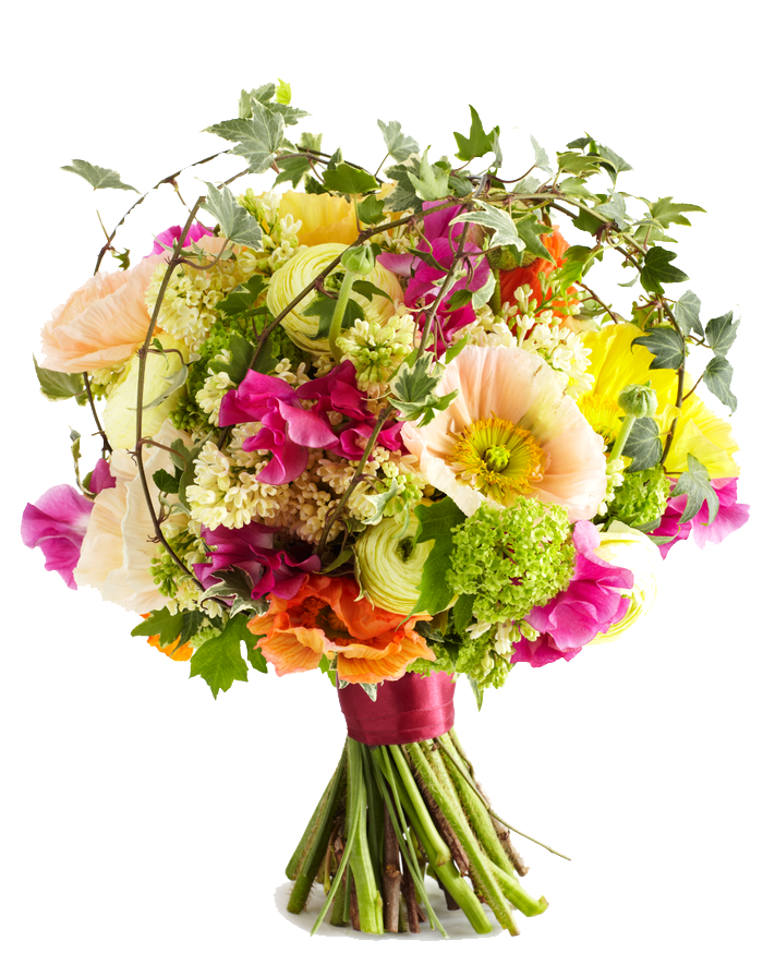 hand tied spring flowers