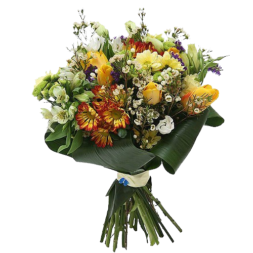 """""""Down to Earth Wrapped Bouquet"""""""