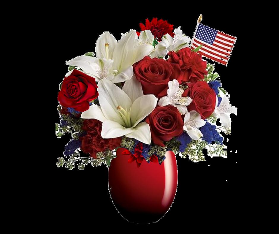 """OH BEAUTIFUL Patriotic Flowers"""