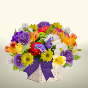 """""""Bright Days and Blossoms Basket"""""""