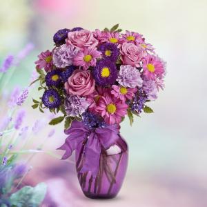 """""""Devotion - Purple and Lavender Flowers"""""""