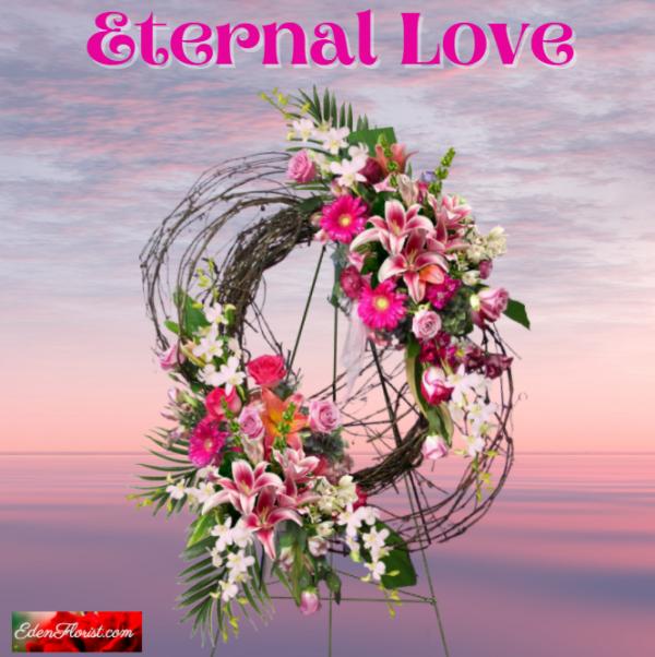 """Eternal Love Grapevine Wreath"""