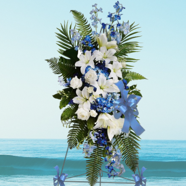 """""""Gentle Breeze Blue and White Spray"""""""