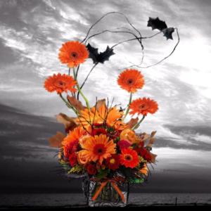 """Ghost Appeal Halloween Bouquet"""