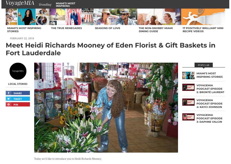 """Meet Heidi Richards Mooney of Eden Florist & Gift Baskets in Fort Lauderdale"""