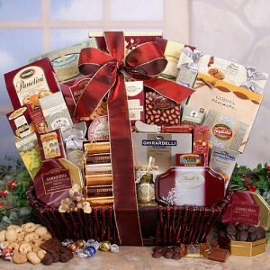 """""""Holiday Cheer Gourmet Food & Candy Gift Basket"""""""