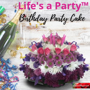 """""""LIFE'S a Party Birthday Party Cake"""""""