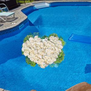 """Love Floats Pool Float"""