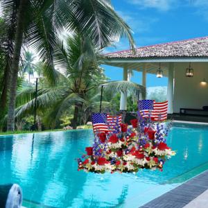 """Patriotic Pool Float"""
