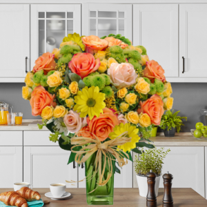 """""""Peaches and Green™ Bouquet"""""""
