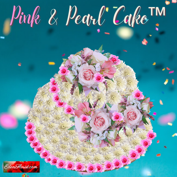 """""""Pink and Pearl Birthday Cake"""""""