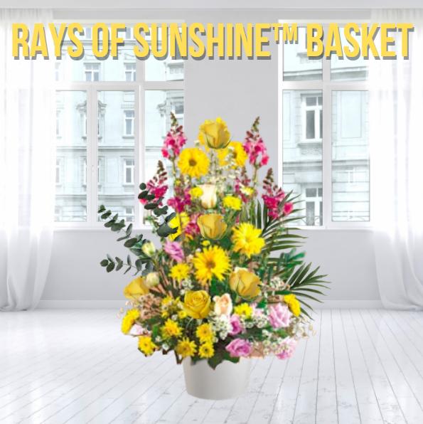 """Rays of Sunshine Funeral Basket"""