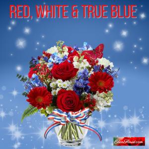 """""""Red White True Blue Bouquet"""""""