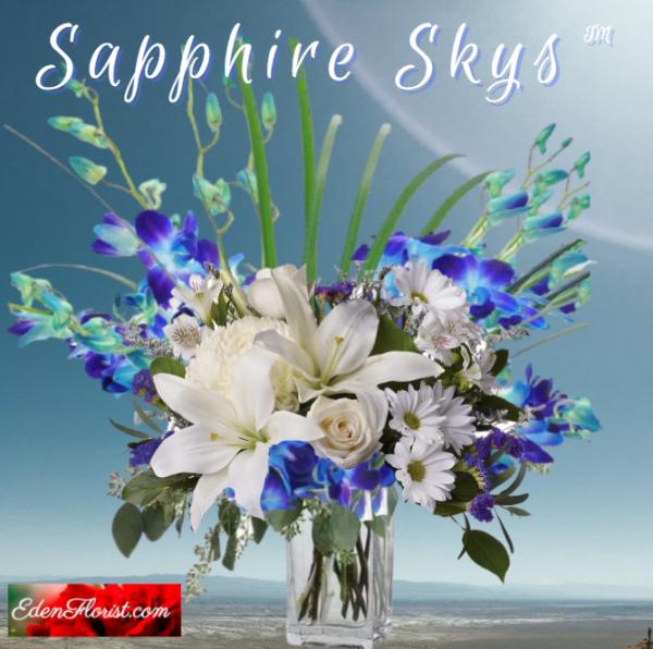 """Sapphire Skys Bouquet"""