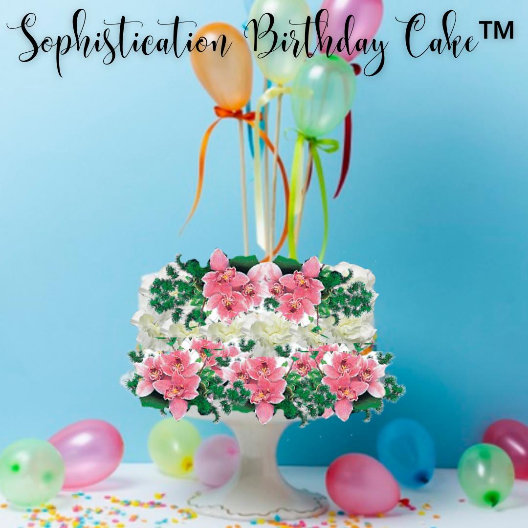 """""""Sophistication Birthday Cake"""""""