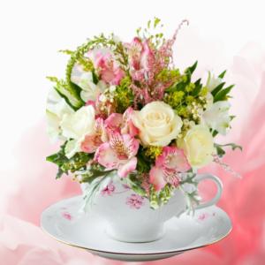 """Time for Tea Keepsake and Flowers"""