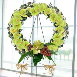 """Tropical Tribute Wreath"""