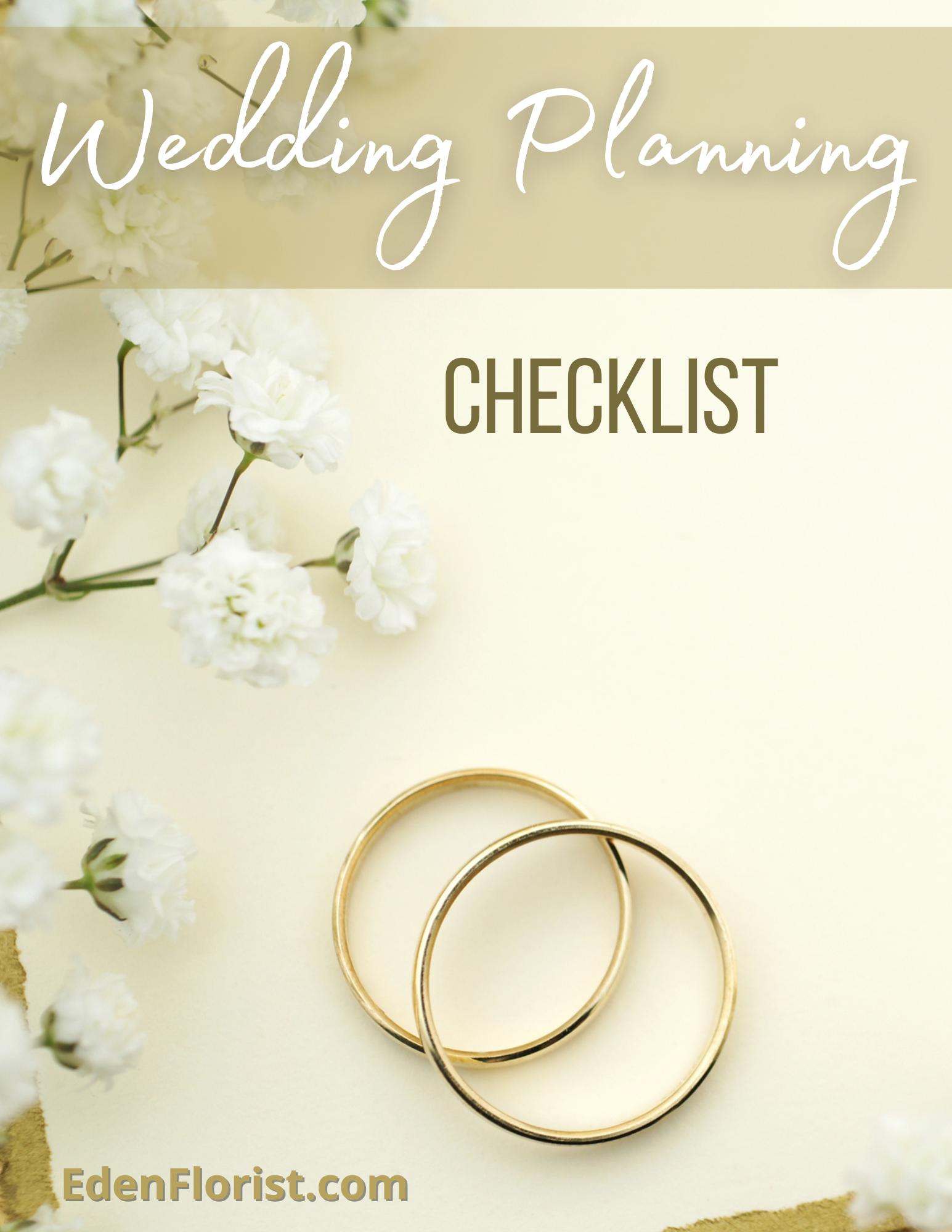 """""""Free Wedding flowers Checklist by Eden Florist"""""""