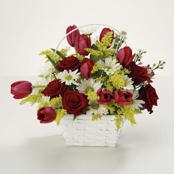 """bright basket of joy bouquet"""