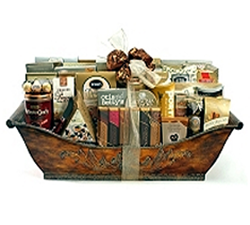 """extravagant delight gourmet basket"""