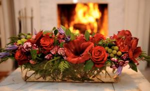 """firelight splendor Christmas centerpiece"""