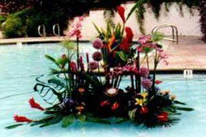 """Tropical Island Pool float"""
