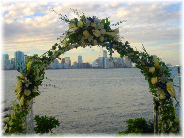 """Celebration of Blues wedding Arch"""