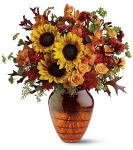 """Amber glow fall vase"""