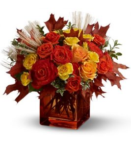 """""""Fine Fall Roses in Cube"""""""