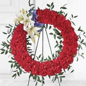 """""""red patriotic wreath"""""""