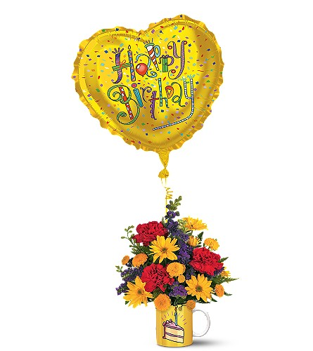 """""""Surprise Birthday Bouquet with Balloon"""""""