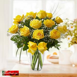 """dozen yellow roses"""