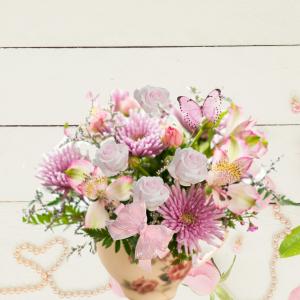 """enchanted teacup keepsake bouquet"""