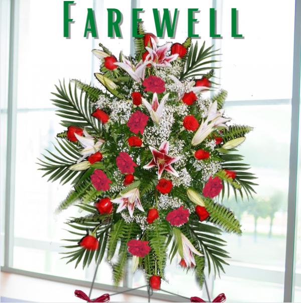 """""""farewell standing spray"""""""