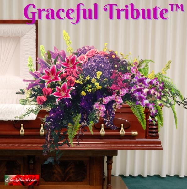 """graceful tribue casket spray"""