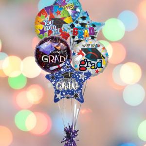 """a bunch of graduation balloons"""