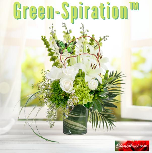 """""""green spiration bouquet"""""""