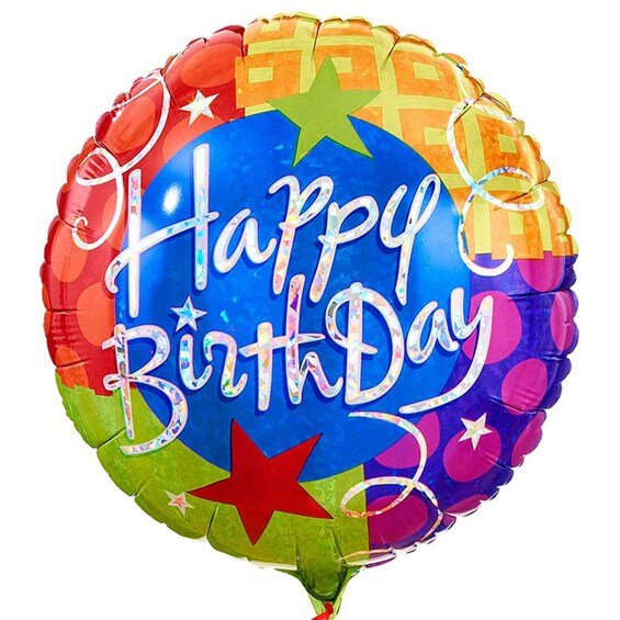 """happy birthday mylar balloon"""