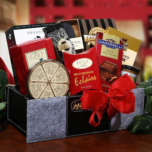 """holiday thanks gourmet gift basket"""