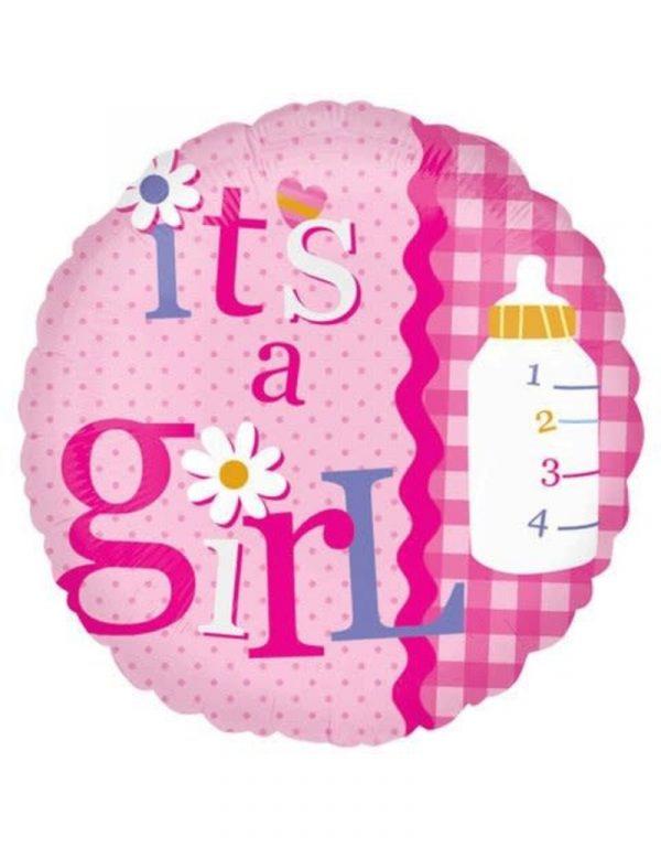 """""""its a girl mylar balloon"""""""