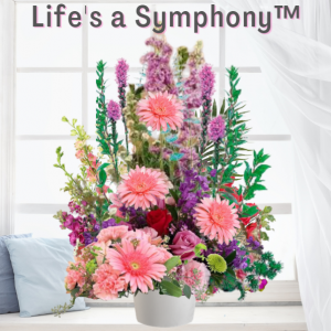 """Life's a Symphony Funeral Basket"""