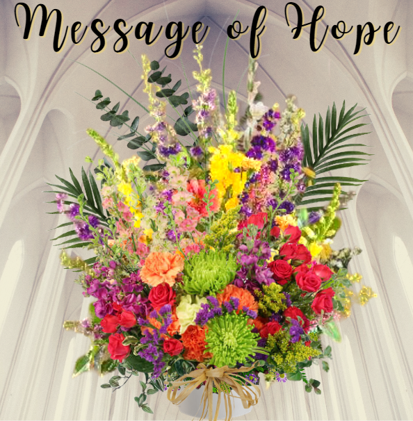 """""""message of hope sympathy basket"""""""