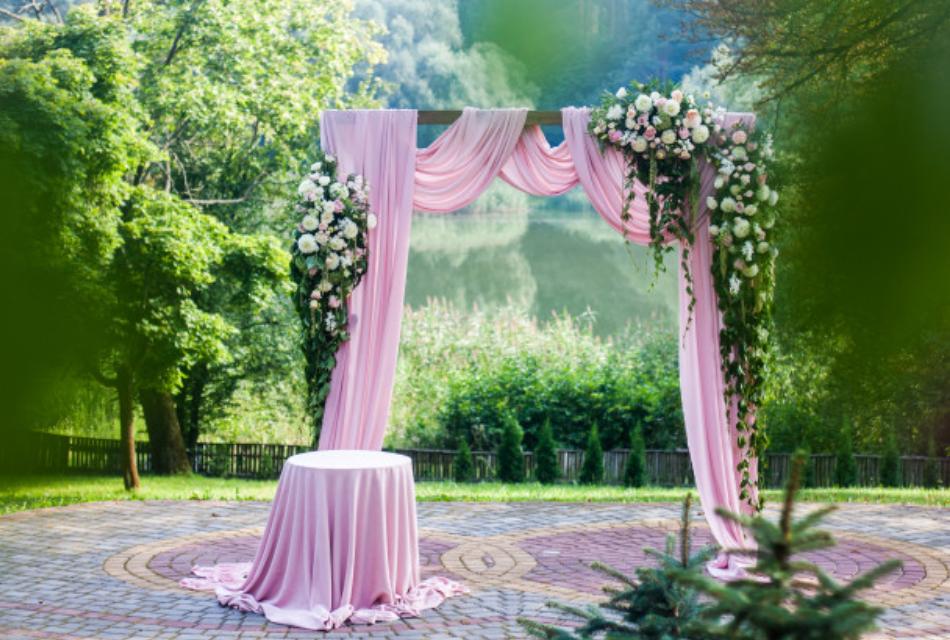 """pink wedding arch"""