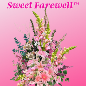"""sweet farewell funeral basket"""