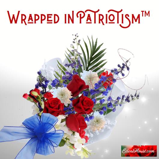 """""""Warapped in Patriotism Bouquet'"""